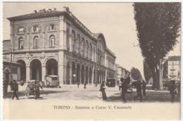 TORINO - STAZIONE E CORSO V. EMANUELE -45853- - Stazione Porta Nuova