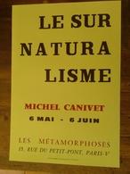 AFFICHE ANCIENNE ORIGINALE EXPOSITION LE SURNATURALISME MICHEL CANIVET GALERIE LES METAMORPHOSES PARIS 5è 1970's - Posters