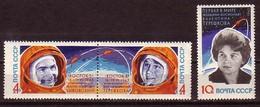 RUSSIA \ RUSSIE - 1963 -  Vol Groupe De Vostok V Et Vl - V Tereshkova - 3v** Dent.. - 1923-1991 USSR