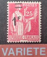 R860/5 - 1941 - TYPE PAIX - N°483 NEUF** - SUPERBE VARIETE ➤➤➤ Surcharge Très Déplacée - Variétés Et Curiosités