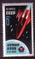 RUSSIA \ RUSSIE - 1963 - Lancement De La Sonde Luna 4  - 1v ** Dent. - 1923-1991 URSS