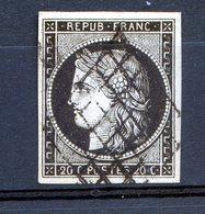 CERES N°3 SUR JAUNE.....TTB.......................marges Voir Scanner.....cote 70 Euros - 1849-1850 Cérès