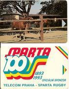 2-CARTES-1990-TECHECOSLOVAQUIE-Sans PUCE-EPREUVE-R° TBE-V°BE - Tchécoslovaquie
