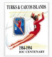 Turks & Caicos Islands 1994 IOC Centenary - Wrong Dates On Souvenir Sheet   MNH/** (H26) - Olympische Spiele