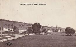3 CPA De GILLEY (Doubs) - Vue Générale - La Gare - Hôtel Dromard-Noël. 2 Ont Circulé. TB état. 3 Scan. - Altri Comuni