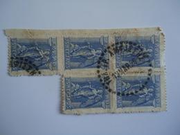 GREECE USED STAMPS BLOCK OF 5 ΑΜΦΙΣΣΗΣ ΤΗΛ.ΓΡΑΦΕΙΟ 1926 - Poststempel - Freistempel