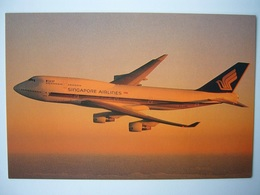 Avion / Airplane / SINGAPORE AIRLINES / Boeing B 747 Megatop / Airline Issue - 1946-....: Ere Moderne