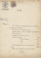 ALSACE-LORRAINE -Papier-timbré 1 Mark Fiscal N°118 Surcharge République Française - Extrait - Schirmeck 13/12/1920 - Revenue Stamps