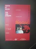 Brochure - Exposition TINTIN Et LE LOTUS BLEU - Luxembourg 2002 - Oggetti Pubblicitari