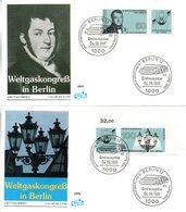 """BRD 2 Schmuck-FDC """"Weltgaskongreß, Berlin"""" Mi. 1537/38 ESSt 4.6.1991 BERLIN 12 - FDC: Enveloppes"""