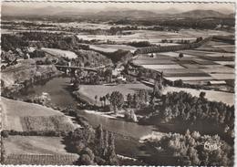 Pyrénées  Atlantique :   NAVARRENX : Vue  Aérienne , Le  Pont Sur Le  Gave  D ' Oléron  , 1954 - Francia