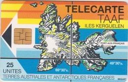 TAAF - MAP OF KERGUELEN - 1.500EX. - TAAF - Terres Australes Antarctiques Françaises