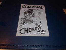 CPSM  COTE D OR   CHENOVE  FLYERS POUR LE CARNAVAL DE 2004 - Chenove
