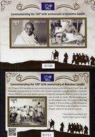 Bhutan - 2019 - 150th Birth Anniversary Of Mahatma Gandhi - Mint Stamp Sheetlet + Souvenir Sheet - Bhutan