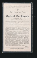 ACHIEL DE RAEVE  NAZARETH 1867     EVERGEM  1921 - Décès