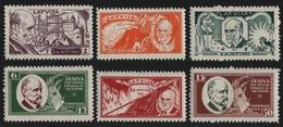 Lettland 1930 - Mi-Nr. 153-158 A ** - MNH - Rainis-Fonds (III) - Lettland