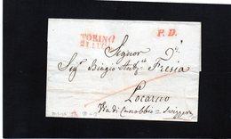 CG17 - Lett. NO TESTO Da Torino X Locarno 21/7/1846 - Bollo Stamp. Diritto Con Data E P.P: Tutti Rossi - Italia