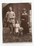 Photographie Chasseur Alpin Nommé Rey 414 Au Col Et Sa Famille A Breil 06 ? Photo 8x11,4 Cm Env - War, Military