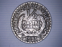 Banque De Syrie 1/2 Piastre Syrienne 1921 - Syrie