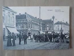 1910 CP Animée Sottegem Zottegem Place De La Gare Statieplein Restaurant Au Petit Bruxelles Hôtel Cygne - Zottegem