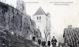 46   SAINT CIRQ  LAPOPIE  RUINES DU CHATEAU - Saint-Cirq-Lapopie