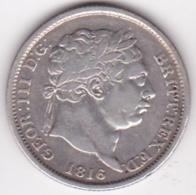 Grande Bretagne. 1 Shilling 1816. George III, En Argent, KM# 666 - 1662-1816 : Anciennes Frappes Fin XVII° - Début XIX° S.
