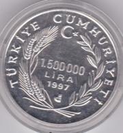 Turquie 1500000 LIRA 1997 SILVER PROOF COIN, En Argent .UNC - Turquia