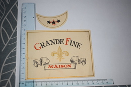 Etiquette Grande Fine Maison + Collerette - Etichette
