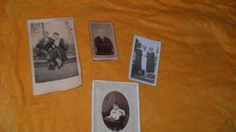 LOT 4 PHOTOS ANCIENNES DATE ?../ PERSONNES ANONYMES..PHOTOGRAPHIE ARTISTIQUE COGNET PARIS, BELUCHE MONTBRISON.. - Personnes Anonymes
