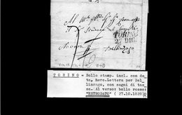 CG17 - Lett. Da Torino X Bellinzago 27/10/1828 - ...-1850 Voorfilatelie