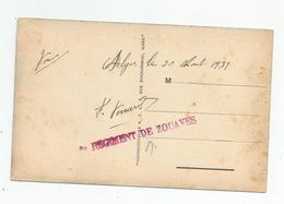 Marcophilie Cachet Rouge Régiment De Zouaves Alger 1931 - Postmark Collection (Covers)