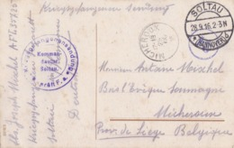 Soldat Militaire Belge Camp Soltau Cachet Censure Vers Soumagne Carte - War, Military