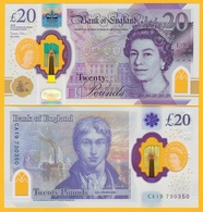 England 20 Pounds P-new 2020 UNC Polymer Banknote - [ 1] Great Britain