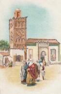 *** Illustrateur *** ALGERIE / MAROC  Ville Algérienne Par Illustrateur - Avec Strass .. Nouvel An ?? - 1900-1949