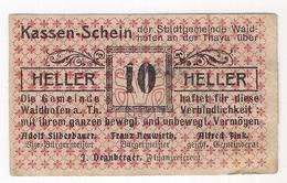 Österreich Austria Notgeld 10 HELLER FS1125I WAIDHOFEN /192M/ - Autriche