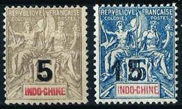 Indochina (Francesa) Nº 22/3 Nuevo*/(*) - Unused Stamps