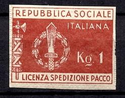 Italie/République Sociale Timbre De Franchise YT N° 1 Neuf ** MNH. TB. A Saisir! - 1944-45 République Sociale