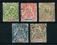Indochina (Francesa) Nº 17/21 Usado Cat.20€ - Used Stamps