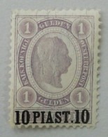 AUSTRIAN P.O. IN TURKISH EMPIRE AND LEVANT 1896 MH* - Oostenrijkse Levant