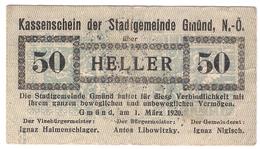 Österreich Austria Notgeld 50 HELLER FS239 GMUND /192M/ - Autriche
