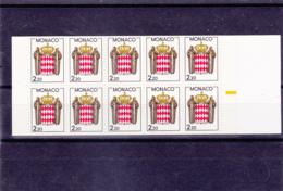 Monaco - Carnet - 1987 - Non Plié - N° 1 ** - N° 1613 - Booklets