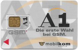 Austria - Mobilkom - A1 Die Erste Wahl Bei GSM, GSM SIM2 Mini, Mint - Austria