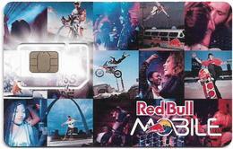 Austria - RedBull Mobile - Pictures, GSM SIM6 Mini-Micro-Nano, Mint - Austria