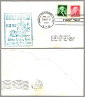 FIRST TRIP Highway Post Office: AMARILLO, TEXAS & ROSWELL, NEW MEXICO, 23 Abril 1955 - Correo Postal