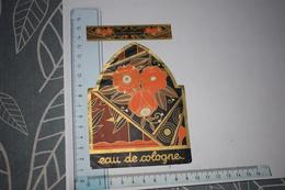 Etiquette + Collerette Eau De Cologne Supérieure Fleur Orange - Etichette