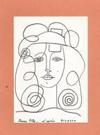 Cpm  Jeune Fille D'après Picasso - Picasso