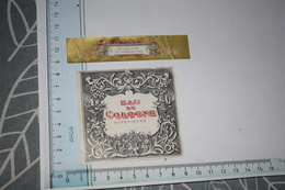 Etiquette + Collerette Eau De Cologne Supérieure Dorée - Etichette