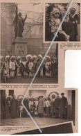 DENDERMONDE..1932..HULDEBETOOG DER INDIANEN VAN SARRASANI VOOR HET STANDBEELD VAN PATER DE SMEDT/ BEZOEK STADHUIS - Vecchi Documenti