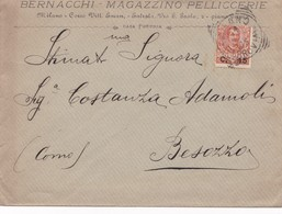 1906 Busta Pubblicitaria Da Milano A Besozzo Con Arrivo. - Storia Postale