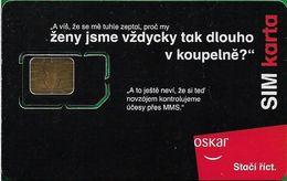 Czech Republic - Oskar - Koupelne #1 (Black Chip Module Lines), GSM SIM2 Mini, Mint - República Checa